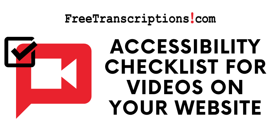 Accessibility Checklist for Videos on Your Website cropped